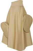 Awake Asymmetric Cotton Midi Skirt - Beige