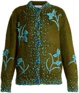 Prada Bead-embellished mohair-blend cardigan