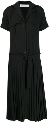 Victoria Victoria Beckham Pleated Skirt Shirt Dress