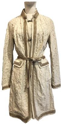 Ermanno Scervino Ecru Linen Trench Coat for Women