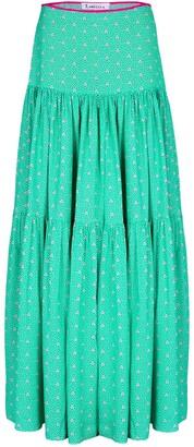 Libelula Emma Skirt Green Stripey Triangle Print