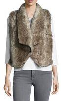 BB Dakota Open-Front Faux Fur Vest