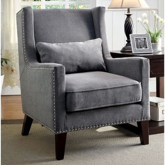 Frederika Wingback Chair Darby Home Co Fabric: Gray