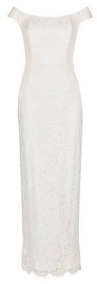 Dorothy Perkins Womens Showcase White Bridal 'Sienna' Lace Maxi Dress, White