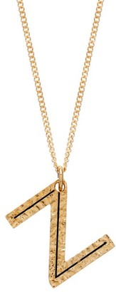 Burberry Hammered Letter-pendant Gold-plated Necklace - Gold