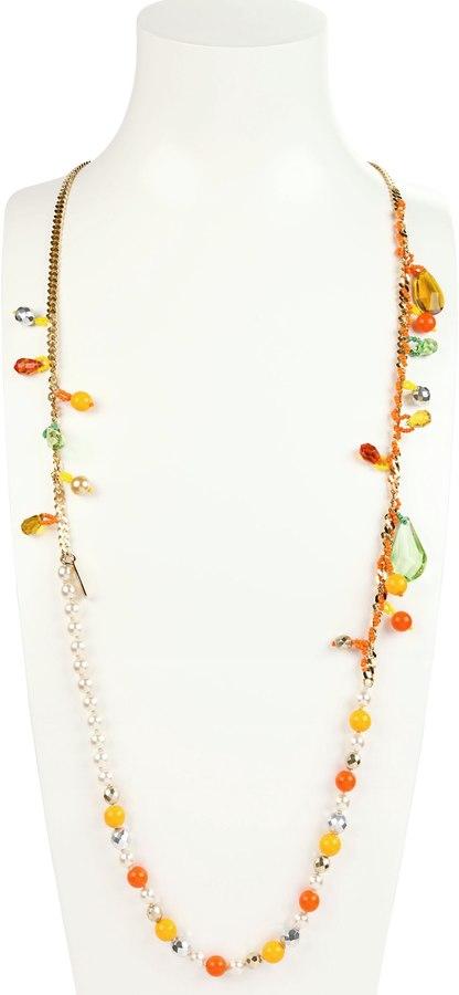Rada' Crystals And Pearls Necklace