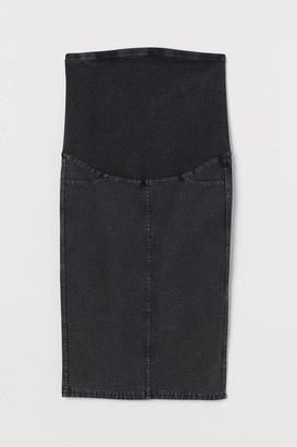H&M MAMA Denim-look Skirt - Gray