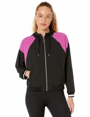 Calvin Klein Women's Colorblock Dolman Hoodie Jacket
