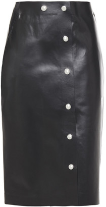 Victoria Beckham Snap-detailed Leather Skirt