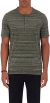 Michael Kors Men's Space-Dyed Jersey Henley-GREEN
