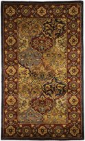 Safavieh Heritage Collection HG510A Handmade Multi and Navy Wool Area Rug, 3 feet by 5 feet