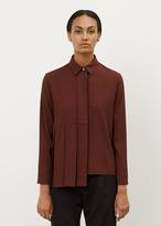 Marni wine asymmetrical pleat blouse