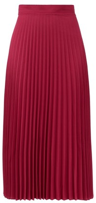 Thebe Magugu High-rise Pleated Crepe Midi Skirt - Pink