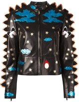 Valentino crazy fantasy leather jacket