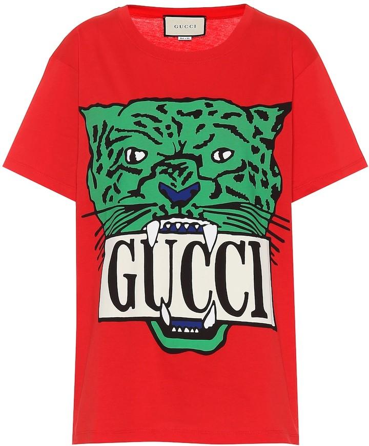 86d00e82 Gucci Red T-shirt - ShopStyle