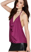 Min Qiao Fashion Women's Sexy Casual Backless V-Neck Vest Top Blouse Halter Tank Top T-Shirt