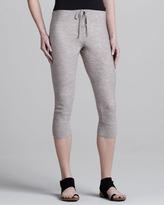 Donna Karan Slouchy Cropped Sweatpants