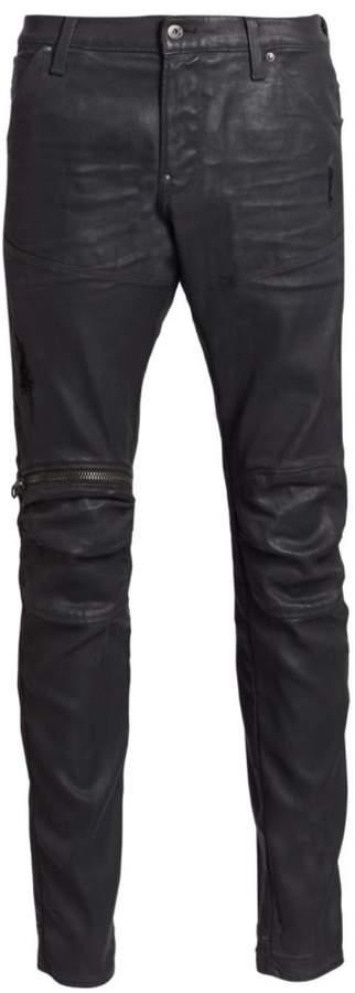 G Star Raw Super-Slim Zip-Knee Jeans