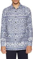 Thaddeous O'neil Men's Hanan Geometric Sportshirt
