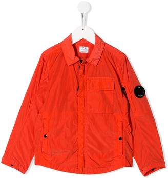 C.P. Company Kids logo plaque rain jacket