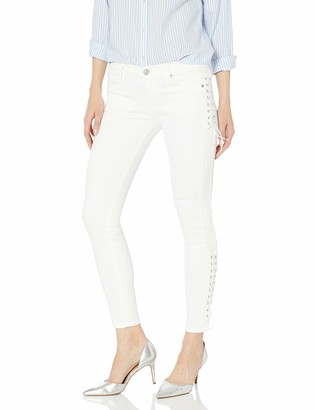 Hudson Women's Suki Midrise Ankle with Lace Detail Super Skinny 5 Pocket Jeans