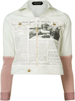 Undercover newspaper print jacket - women - Cotton - 2