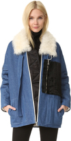 Sandy Liang Citroen Shearling Coat