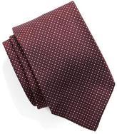 Drakes Drake's Silk Micro Dot Tie in Maroon