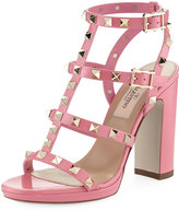 Valentino Rockstud Caged Platform Sandal