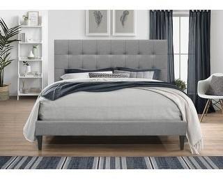 Home Design Harry Upholstered Platform Bed