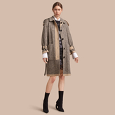 Burberry Reversible Donegal Tweed and Gabardine Trench Coat , Size: 02, White