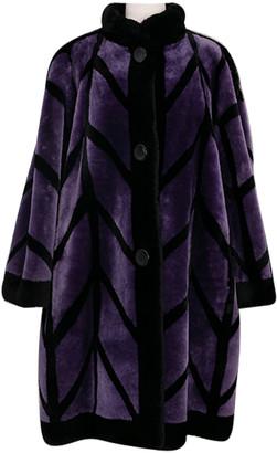 Christian Dior Purple Shearling Coats