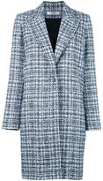 Lanvin tweed singled breasted coat - women - Silk/Cotton/Acrylic/Viscose - 36