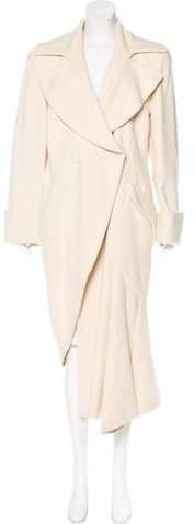 Armani Collezioni Asymmetrical Virgin Wool Coat