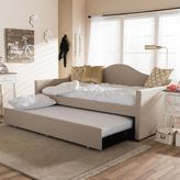 Baxton Studio Prime Upholstered Linen Daybed & Trundle