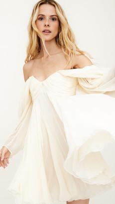 Giambattista Valli Off Shoulder Long Sleeve Mini Dress