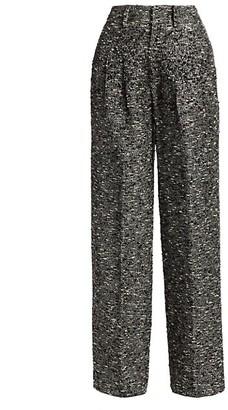 Libertine Sparkle Tweed Wide-Leg Pants