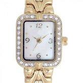 Elgin Women's Gold-Tone Herringbone Dressy Watch EG9050