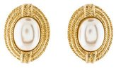 Givenchy Woven Faux Pearl Clip-On Earrings