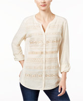 Style&Co. Style & Co. Embroidered Shirt, Only at Macy's