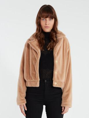 Finders Keepers Sugar Faux Fur Crop Jacket