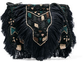 Antik Batik Fringed Beaded Cotton-Bouclé Shoulder Bag