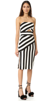 Milly Stripe Strapless Dress