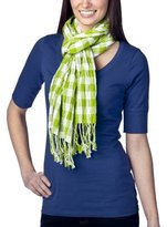 Women's Xhilaration Crinkled Plaid Buffalo Wrap - Green
