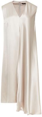 Joseph Asymmetric Draped Silk-charmeuse Dress
