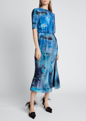 Altuzarra Floral-Print Silk Dress