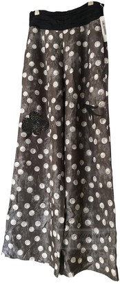 Tsumori Chisato Black Silk Trousers for Women