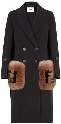 Fendi Fluffy Wool Double Breasted