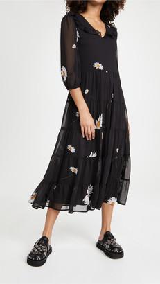 En Saison Daisy Print Tiered Dress
