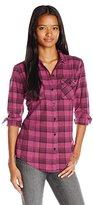 Fox Women's Variegate Flannel Plaid Shirt